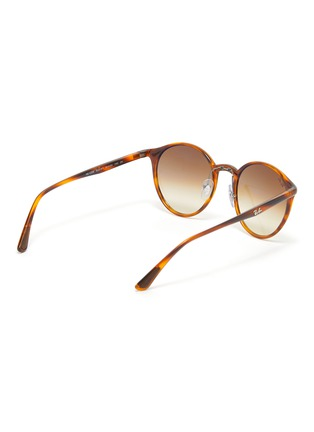 Figure View - Click To Enlarge - RAY-BAN - Tortoiseshell Effect Round Acetate Frame Thin Temple Sunglasses