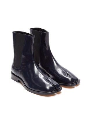 Detail View - Click To Enlarge - MAISON MARGIELA - Tabi' flat patent leather Chelsea boots