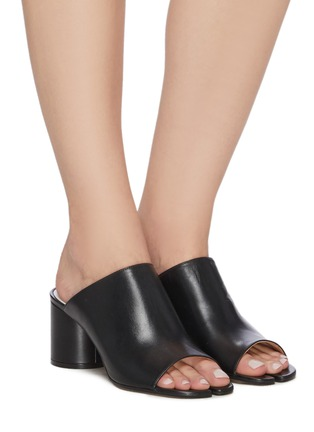 Figure View - Click To Enlarge - MAISON MARGIELA - Tabi' open toe leather mules