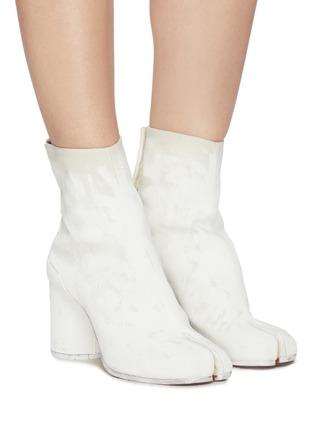 Figure View - Click To Enlarge - MAISON MARGIELA - Tabi' linen boots