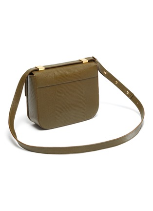 Detail View - Click To Enlarge - DEMELLIER - 'Vancouver' lizard effect leather crossbody bag