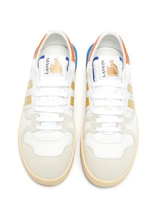 Detail View - Click To Enlarge - LANVIN - Clay' low top mesh and suede sneakers