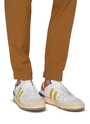 Figure View - Click To Enlarge - LANVIN - Clay' low top mesh and suede sneakers
