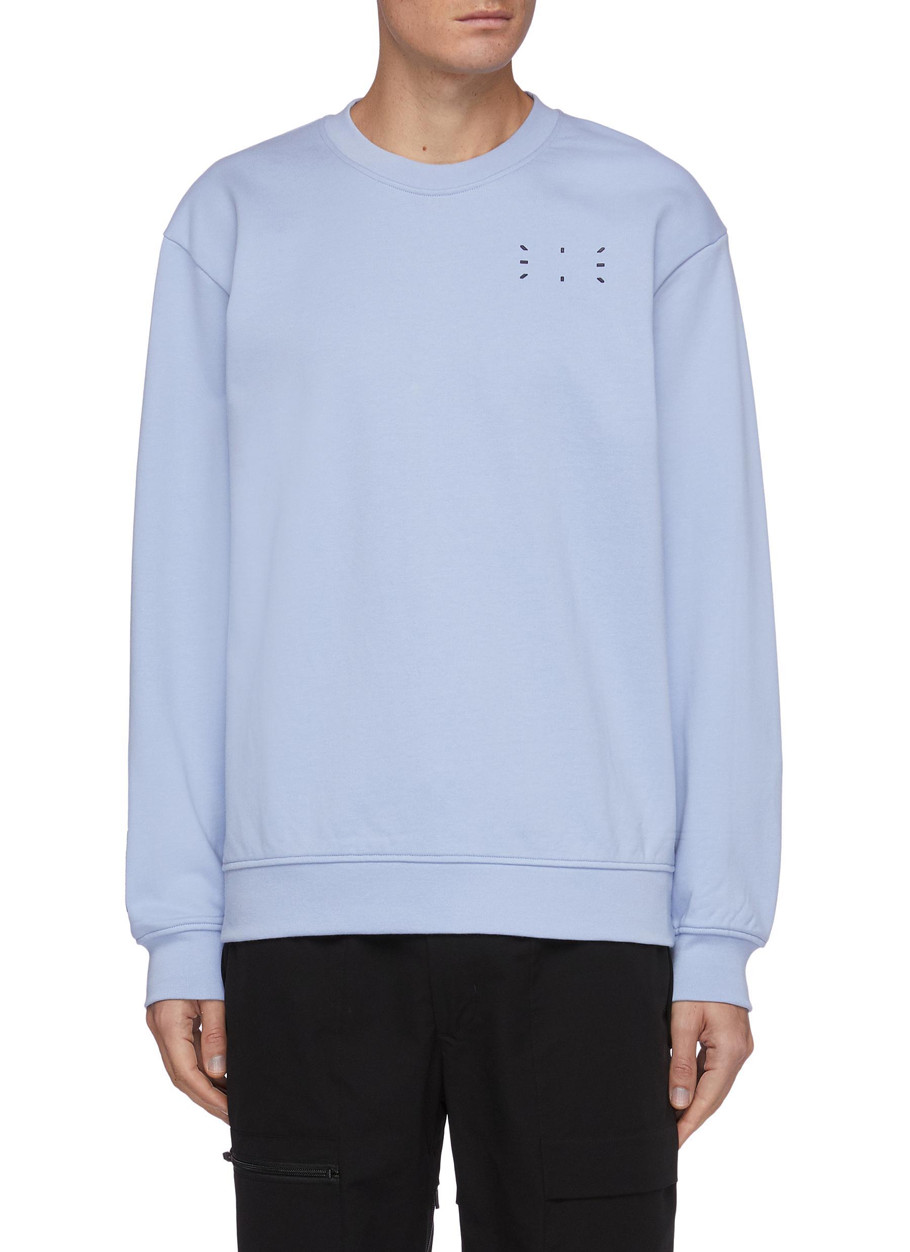 Core stitch print sweatshirt