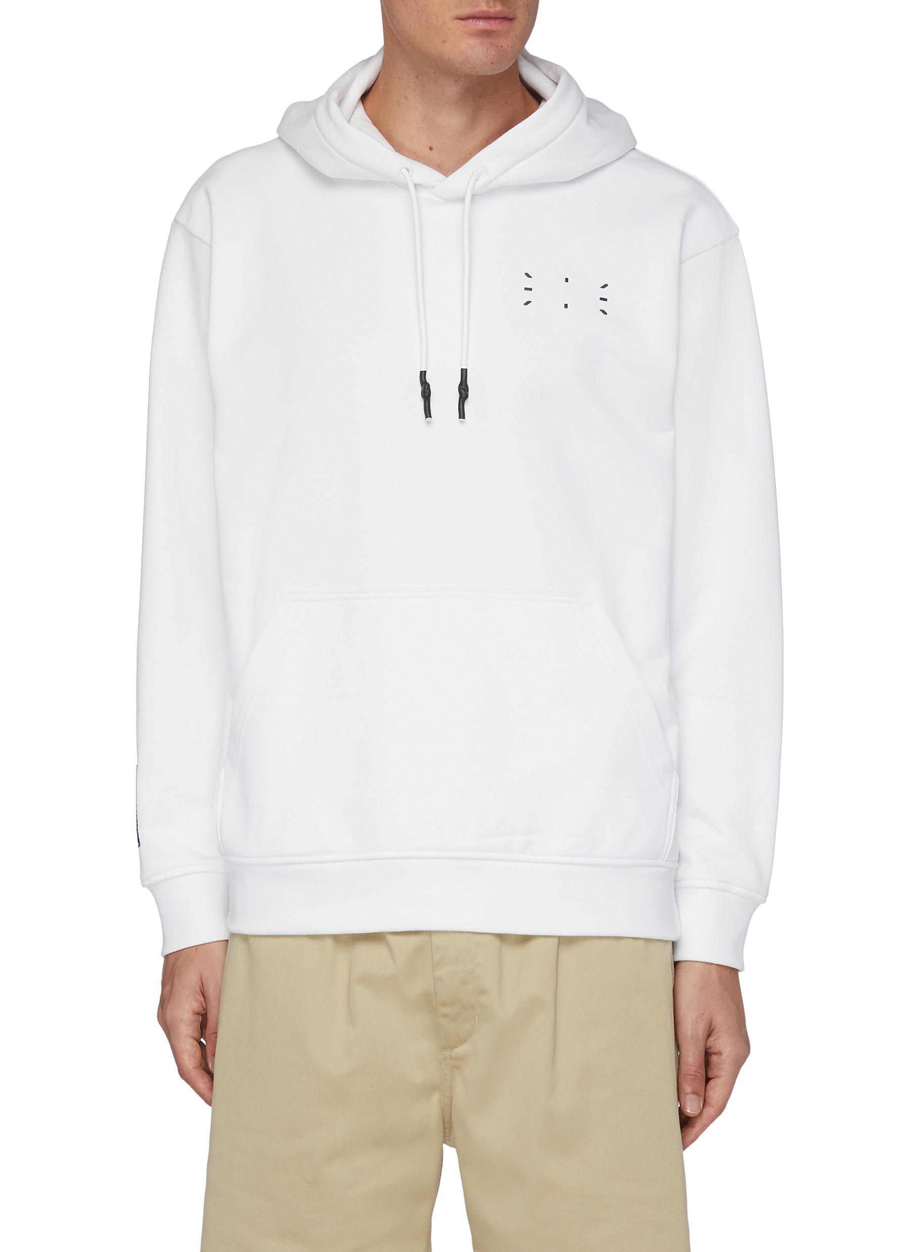 Core stitch print hoodie
