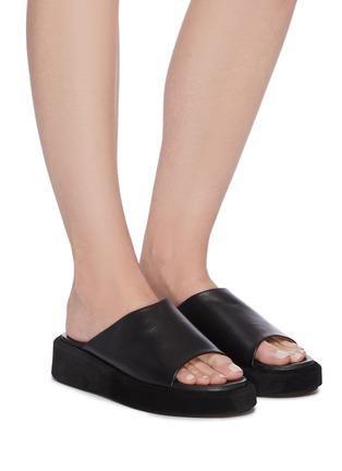 Figure View - Click To Enlarge - ATP ATELIER - Pacci' leather platform sandals