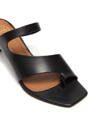 Detail View - Click To Enlarge - ATP ATELIER - PITTUINI' Open Toe Ring Heeled Leather Mules