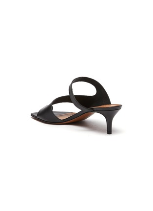 - ATP ATELIER - PITTUINI' Open Toe Ring Heeled Leather Mules