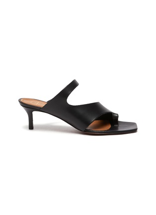 Main View - Click To Enlarge - ATP ATELIER - PITTUINI' Open Toe Ring Heeled Leather Mules