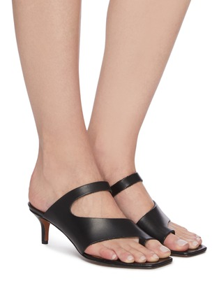 Figure View - Click To Enlarge - ATP ATELIER - PITTUINI' Open Toe Ring Heeled Leather Mules