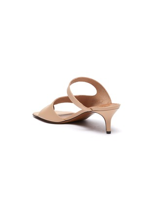 - ATP ATELIER - 'PITTUINI' Open Toe Ring Heeled Leather Mules