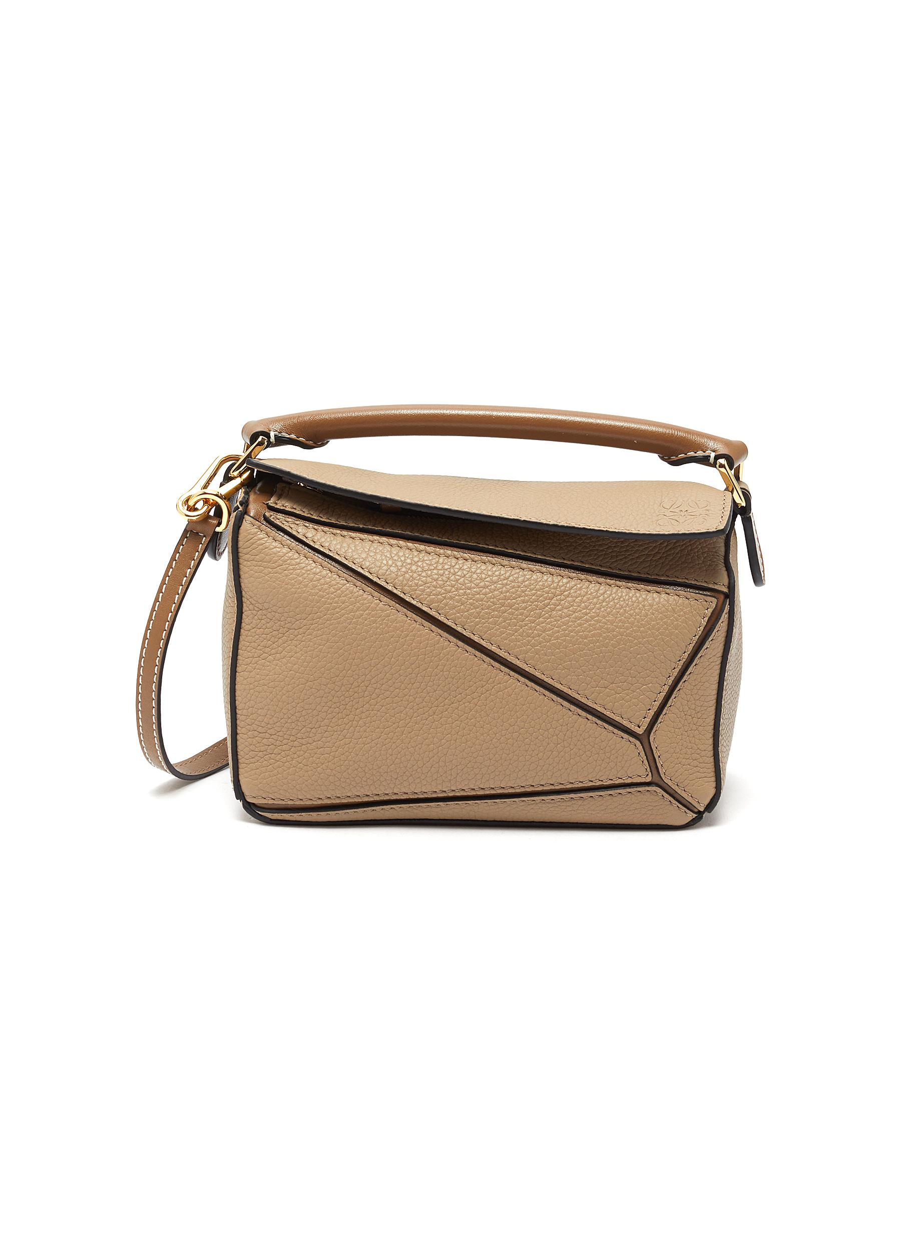 Loewe 'puzzle' Mini Leather Bag In Neutral