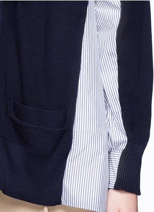 Detail View - Click To Enlarge - SACAI - Stripe panel cotton cardigan