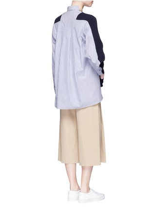 Figure View - Click To Enlarge - SACAI - Stripe panel cotton cardigan