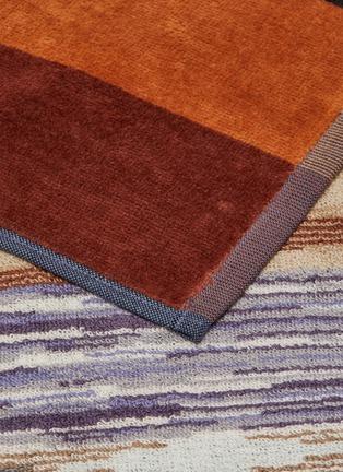 Detail View - Click To Enlarge - MISSONI HOME - Ywan Cotton Bath Sheet – Green/Multi-colour