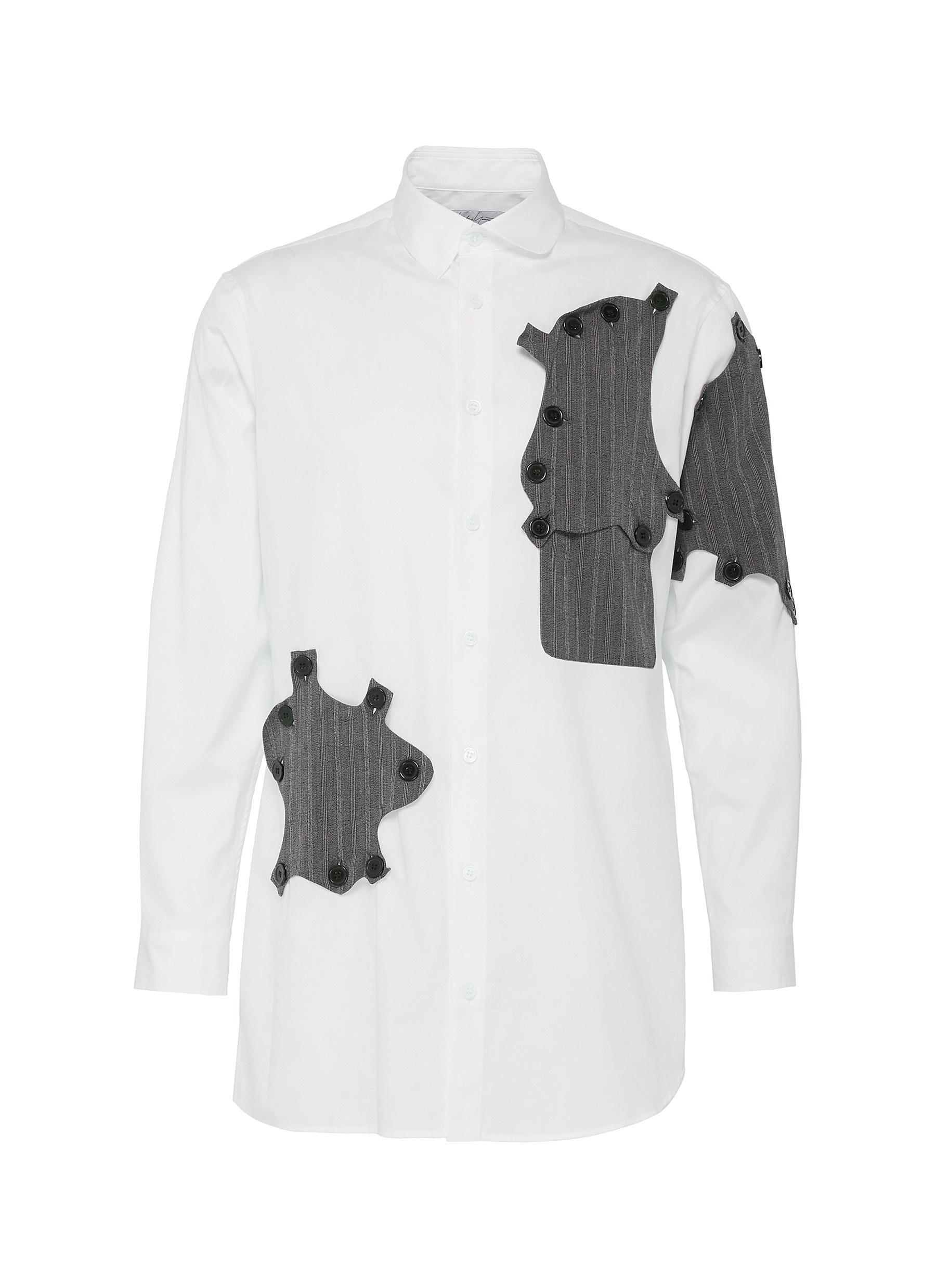 Yohji Yamamoto Shirts BUTTON PATCH SHIRT