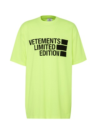 Main View - Click To Enlarge - VETEMENTS - Oversize Logo Print Cotton T-shirt