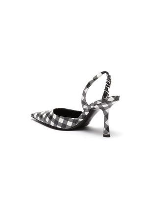 - ALEXANDERWANG - 'Grace' gingham print crystal embellished sling back pumps