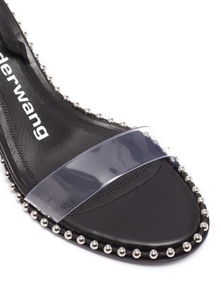Detail View - Click To Enlarge - ALEXANDERWANG - Nova Low' Stud Embellished Welt Double Strap Sandals