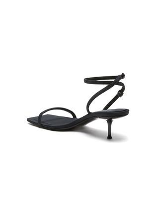 - ALEXANDERWANG - 'Jessie' Crystal Embellished Logo Ankle Nylon Strap Heeled Sandals