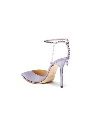 - JIMMY CHOO - Saeda' crystal anklet chain satin pumps