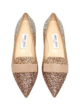 Detail View - Click To Enlarge - JIMMY CHOO - Gala' glitter degradé loafers