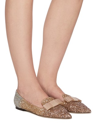 Figure View - Click To Enlarge - JIMMY CHOO - Gala' glitter degradé loafers