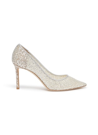 Main View - Click To Enlarge - JIMMY CHOO - ROMY 85' POINT TOE COARSE GLITTER PUMPS