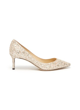 Main View - Click To Enlarge - JIMMY CHOO - Romy' point toe coarse glitter pumps