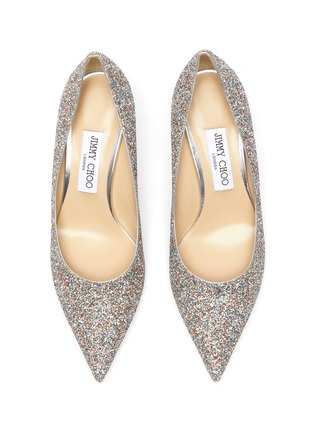 Detail View - Click To Enlarge - JIMMY CHOO - Love 85' coarse glitter pumps