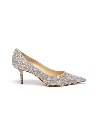 Main View - Click To Enlarge - JIMMY CHOO - Love 85' coarse glitter pumps