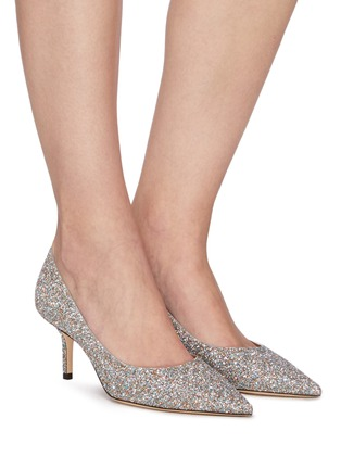 Figure View - Click To Enlarge - JIMMY CHOO - Love 85' coarse glitter pumps