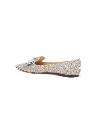- JIMMY CHOO - Gala' coarse glitter pointed toe flats