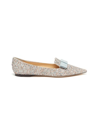 Main View - Click To Enlarge - JIMMY CHOO - Gala' coarse glitter pointed toe flats