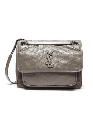 Main View - Click To Enlarge - SAINT LAURENT - 'Niki Média' calfskin leather shoulder bag