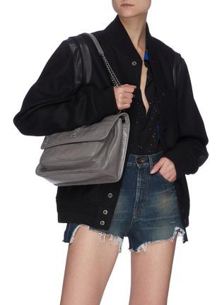 Figure View - Click To Enlarge - SAINT LAURENT - 'Niki Média' calfskin leather shoulder bag