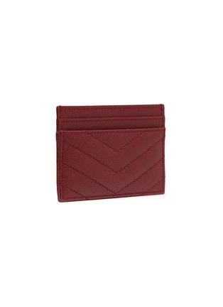 Figure View - Click To Enlarge - SAINT LAURENT - Monogram grain calfskin leather cardholder
