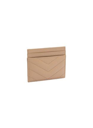 Figure View - Click To Enlarge - SAINT LAURENT - Logo Plaque Grain Leather Cardholder