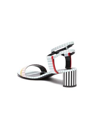 - PIERRE HARDY - Pastel stripe leather sandals