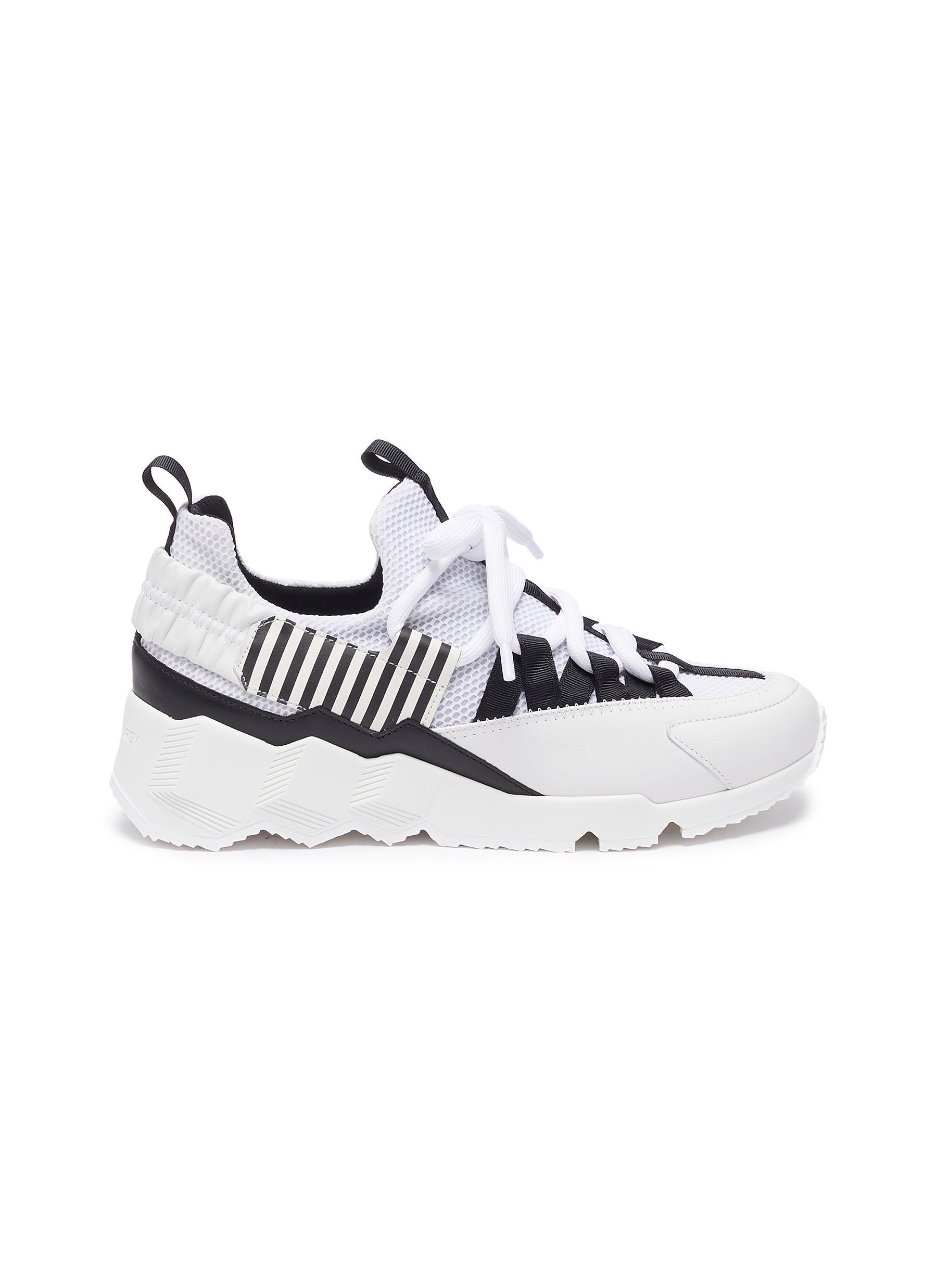 Trek Com' stripe mesh leather sneakers - PIERRE HARDY - Modalova