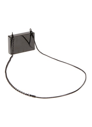 Detail View - Click To Enlarge - ALEXANDERWANG - Wangloc' Stone Embellished Credit Card Clutch