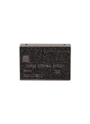 Main View - Click To Enlarge - ALEXANDERWANG - Wangloc' Stone Embellished Credit Card Clutch