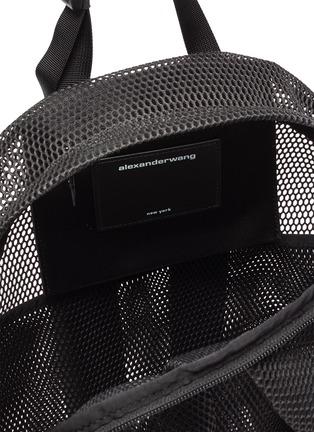 Detail View - Click To Enlarge - ALEXANDERWANG - Wangsport' Logo Print Mesh Backpack