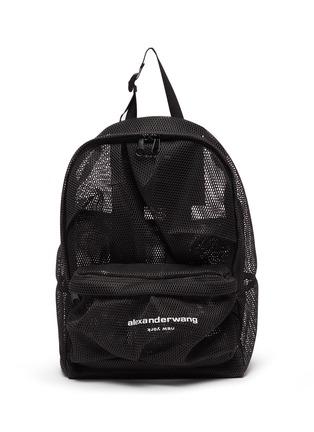 Main View - Click To Enlarge - ALEXANDERWANG - Wangsport' Logo Print Mesh Backpack