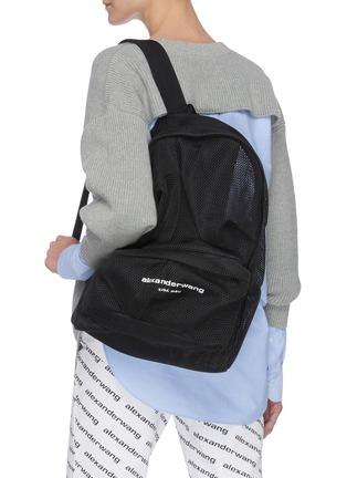 Figure View - Click To Enlarge - ALEXANDERWANG - Wangsport' Logo Print Mesh Backpack