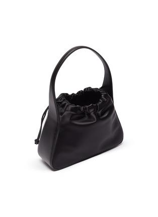 Detail View - Click To Enlarge - ALEXANDERWANG - 'Ryan' Logo Print Top Handle Drawstring Satin Bag