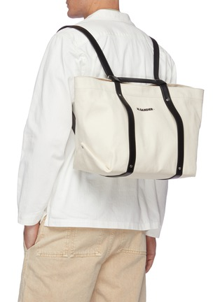 Figure View - Click To Enlarge - JIL SANDER - Backpack canvas tote