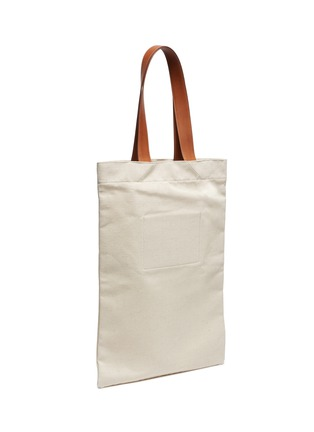 Detail View - Click To Enlarge - JIL SANDER - Logo print canvas shopper tote bag