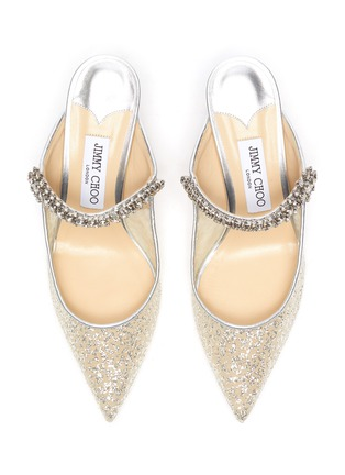 Detail View - Click To Enlarge - JIMMY CHOO - 65 Bing' glitter tulle mules