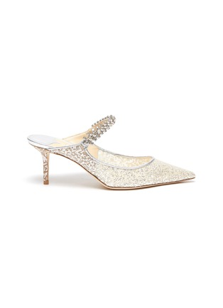 Main View - Click To Enlarge - JIMMY CHOO - 65 Bing' glitter tulle mules